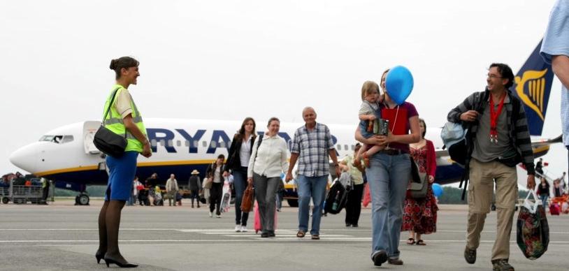 Самолет Ryanair в аэропорту Каунас